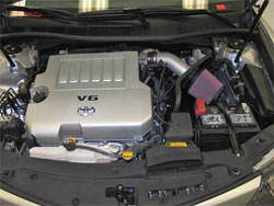 K&N Air intake installed on a 2012 Toyota Camry 3.5L