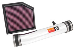 Street legal performance air intake system 69-8704TP from K&N Filters for the 2013-2014 Lexus IS350 & GS350 3.5L V6 luxury sedan models
