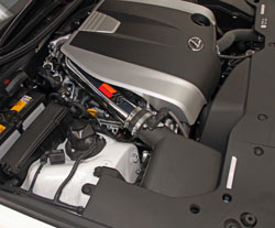 69-8704TP retains the stock 2013-2014 Lexus IS350 & GS350 air box to maintain factory connections, visual continuity, an earn an exemption order from the state of California