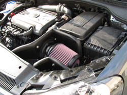 K&N Air Intake Installed on 2009 Audi A3 2.0L