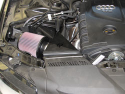 K&N Air Intake Installed on 2010 Audi A4