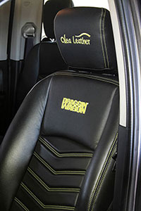 Thanks to Alea Leather, Murray can enjoy the feel and smell of the leather seats in his Ram.