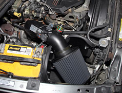 K&N Air Intake under the hood of Dodge Ram 3500 Pickups