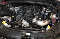 K&N air intake 77-1567KS installed in a Jeep Grand Cherokee SRT 6.4L