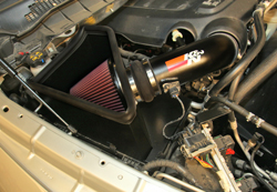 Ram Heavy Duty Truck with an easy to install power gaining accessory, the K&N 77-1568KTK air intake