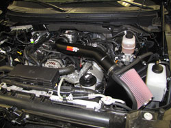 K&N Air Intake Installed on 2010 Ford F-150 Raptor 6.2L