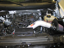 K&N Air Intake Installed on 2011 Ford F-150 5.0L