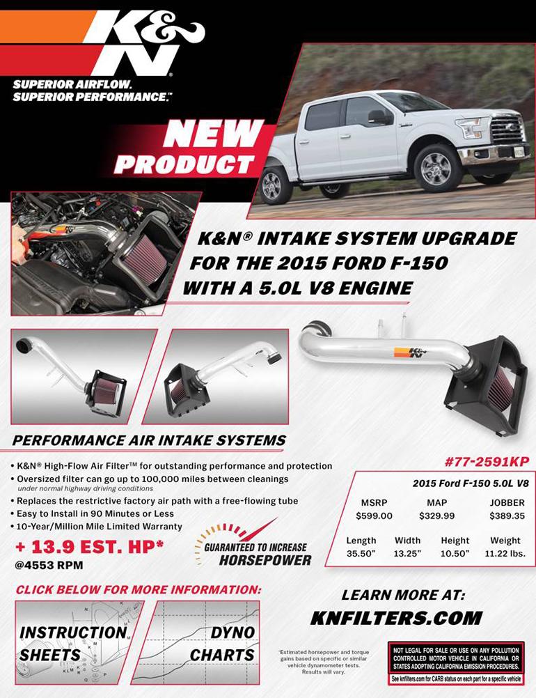 Sell Sheet for K&N 63-2586