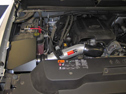 K&N Air Intake Installed on Chevy Silverado 2500HD/3500HD Trucks