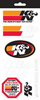 K&N stickers and decal kit