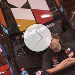 X-Games Mitsubishi Lancer Evo Rally Car & Drivers Hang Out At K&N's SEMA Booth
