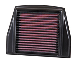 K&N AL-1111 washable and reusable air filter for Aprilia motorcycles