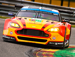 The #99 Aston Martin, the eventual Six Hours of Spa-Francorchamps GTE Pro class winning car, started the 6-hour race from the front of the grid