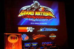 At the beginning of 2010, K&N's Johnny Jump and Hall of Fame racer Mike Kidd began discussions.  With the help of series sponsor Parts-Unlimited, the creation of the AMA Pro K&N Filters Grand National Championship Series became a reality.