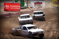 The battle for the lead in Pro 4 with Carl Renezeder, Eric Barron, and Kyle LeDuc