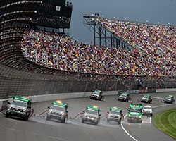 Over time, the innovations of the NASCAR Air Titan™, along with reusable K&N air filters, will lessen the carbon footprint of track drying, decrease emissions, noise pollution, & waste