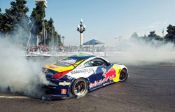 Exhibition drift shows in Kyiv and Baku, Azerbaijan were greeted by 50,000 fans
