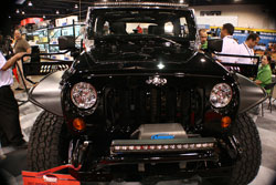 Black 2012 Jeep Wrangler built by Alex Andrade for SEMA 2012