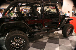 With all the bolt-ons this 2012 Jeep JK can tackle just about anything and was on diaplay during SEMA 2012