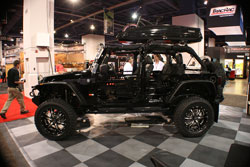 Many automobile enthusiasts attend SEMA to see vehilces such as this 2012 Jeep Wrangler