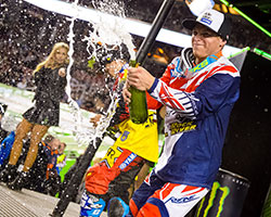 This was Alex Martin's second Monster Energy / AMA Supercross podium performance of the year, and an emotional finish to a great 2015 Supercross season