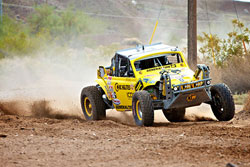 Due to previous rains, the course at the Parker 425 was more rugged than usual. But Steve Alexander and his crew managed to keep their vehicle intact, and in turn earned a victory