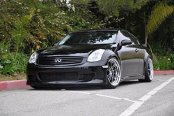 Alf Serrato's G35 has the proper stance that can be appreciated by any car enthusiast