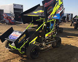 Jake was having difficulties navigating turns 1 and 2 so the Andreotti Racing team adjusted the K&N equipped #7P Micro Sprint Car's wing to improve handling