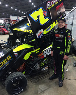 Jake Andreotti started his 2016 race season at the Tulsa Shootout