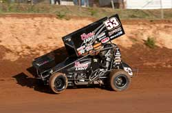 Andy Gregg Racing in His Sprint Car