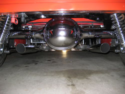The underside of Anthony Leonards 1929 Ford Tudor was fitted with a custom belly pan, painted the same color as the car.