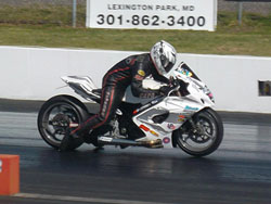 K&N sponsored Ashon Dickerson is the first person to put a Pirelli road race tire in the 7-second zone on dragstrip.