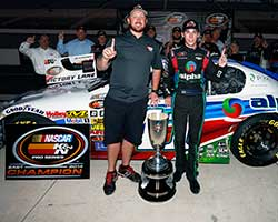 Ben Rhodes was officially rewarded the NASCAR K&N Pro Series East championship trophy, he will be honored at the NASCAR Hall of Fame at the Charlotte Convention Center