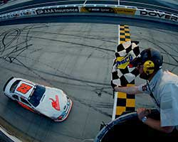 Austin Hill regained the Drive Sober 150 at Dover International Speedway lead on lap 120 of the one mile high-banked oval and never looked back eventually winning by over five seconds