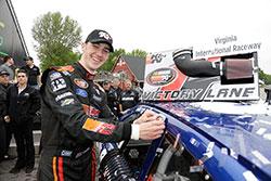 Austin Cindric at NASCAR K&N Pro Series East race at Virginia International Raceway