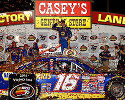 Brandon McReynolds finally got the first NASCAR career win that eluded him for 34 K&N Pro Series starts in the Casey's General Store 150 at Iowa Speedway