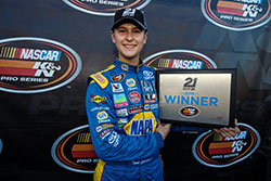 Todd Gilliland won pole at Douglas County Speedway