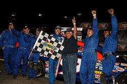 Ryan Partridge victory lane Douglas County Speedway