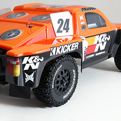 K&N and BME sponsors Lucas Oil, Maxxis Tires, and Kicker Audio plan to give away a limited number of ECX K&N Pro Lite truck replicas both in person and through social media