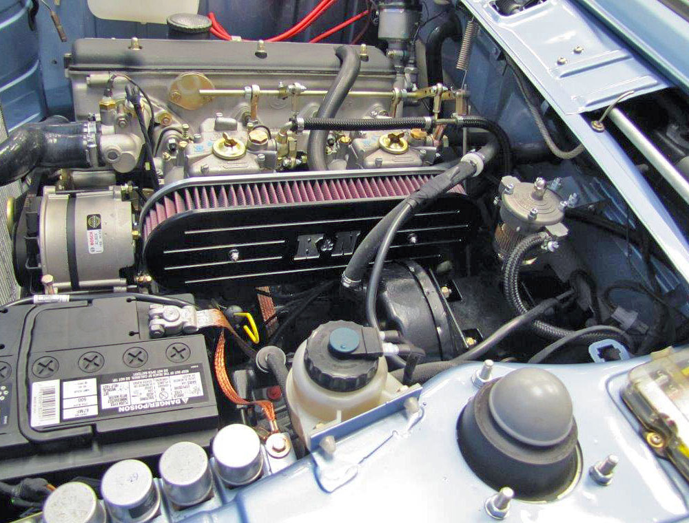 BMW2002 KN6 clarion builds 1974 bmw 2002 gets custom k&n air cleaner as it nears