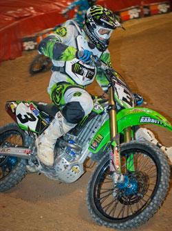 Team Monster Energy Babbitt's Kawasaki anticipates continued success in Arenacross racing.