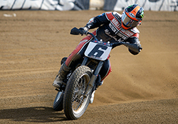Brad Baker put together his finest performance of the 2015 AMA Pro Flat Track season