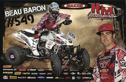 Beau Baron Maxxis/H&M Honda ATV poster