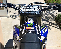 The 2014-2016 Yamaha YZ450F and YZ250F models have a unique air filter box located at the front of the seat as seen here on David Pulley's 2014 Supercross bike