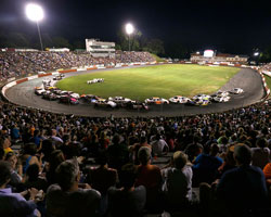 Bowman Gray Stadium was packed with NASCAR K&N Pro Series fans who watched Ben Rhodes lead 151 of 152 laps