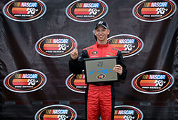 Kyle Benjamin won the pole and was the runner-up at the NASCAR K&N Pro Series East race