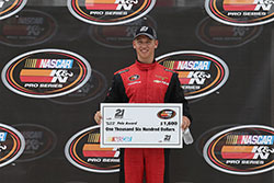 Kyle Benjamin won the pole for the NASCAR K&N Pro Series East race at Dominion Raceway