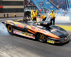 Reigning NHRA Super Gas Champion Luke Bogacki showed why he wears the number 1 for a second consecutive season