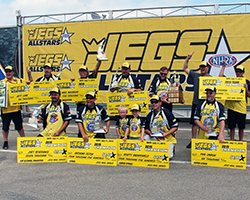 The JEGS All-Stars field is comprised of the top representatives from each of NHRA's seven geographic divisions