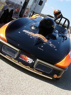 Reigning NHRA Champ Luke Bogacki unveiled his new Charlie Stewart Race Cars built; Racing RV's backed '63 Corvette Roadster